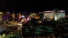 De strook van Las Vegas, Nevada bij nacht wordt verlicht die royalty-vrije stock afbeeldingen