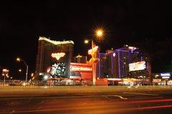 De Strook van Las Vegas van de nacht Stock Foto