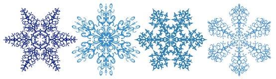 De strook van sneeuwvlokken clipart Stock Afbeelding