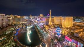 De Strook van Vegas van Las bij nacht royalty-vrije stock afbeelding