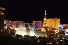 De Strook van Vegas van Las bij Nacht Royalty-vrije Stock Fotografie