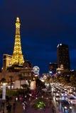 De Strook van Vegas van Las bij nacht. royalty-vrije stock afbeelding