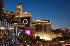 De Strook van Vegas van Las bij Nacht Stock Foto's
