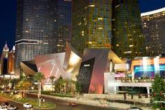De Strook van Vegas van Las bij Nacht Stock Afbeeldingen