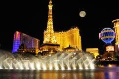 De Strook van Vegas van Las bij nacht Stock Fotografie