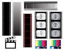 De strookachtergronden van de film Stock Foto