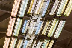 De strooklichten van het plafond Stock Afbeelding