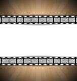 De strookmalplaatje van de film Stock Foto