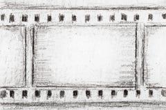 De strookschets van de film Stock Foto's