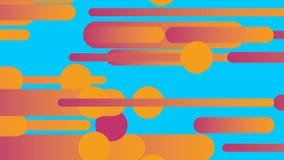 De stroom abstracte oranje lijnen van het krullawaai het 3d teruggeven royalty-vrije illustratie