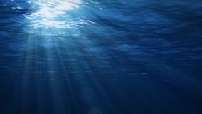 In de stroom Blauwe Onderwater met rimpeling en golflichten stock illustratie