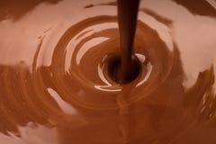 De stroom van de chocolade Stock Foto