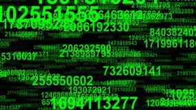 De stroom naadloze lijn van random numbersgegevens stock videobeelden