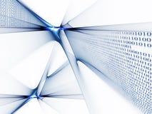 De stroom van binaire codegegevens Stock Foto's