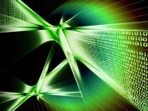 De stroom van binaire codegegevens, mededeling Royalty-vrije Stock Afbeelding