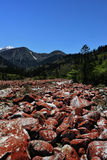 De Stroom van de berg, de Kleuren van de Daling Stock Foto
