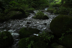 De stroom van de Kitanizawaberg Royalty-vrije Stock Fotografie
