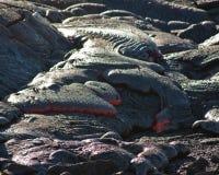 De Stroom van de lava Stock Afbeelding