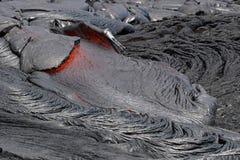 De Stroom van de lava Royalty-vrije Stock Afbeeldingen