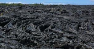 De stroom van de lava dichtbij Pahoa, Groot Eiland, Hawaï Stock Foto
