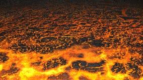 De stroom van de lava (geef terug) Stock Afbeeldingen