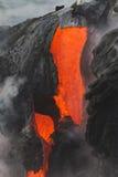 De stroom van de lava stock fotografie
