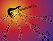 De stroom van de muziek Stock Afbeeldingen