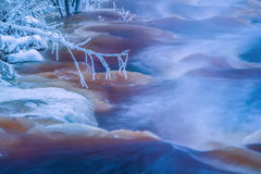 De stroom van de winter Royalty-vrije Stock Afbeelding