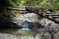 De stroom van het water in Slowaaks paradijs Royalty-vrije Stock Fotografie