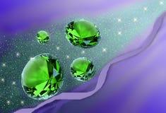 De stroom van kristallen Stock Afbeelding