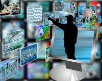 De stroom van verschillende media Royalty-vrije Stock Foto
