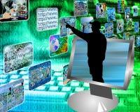 De stroom van verschillende media Stock Foto's