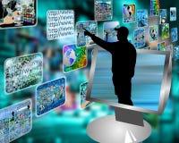 De stroom van verschillende media Stock Fotografie