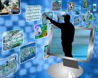 De stroom van verschillende media Stock Afbeelding