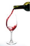De stroom van wijn Stock Foto