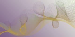 De stroomeffect van gradiëntkrommen illusie buitensporige achtergrond stock illustratie