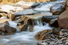 De stroomversnelling van de bergrivier Stock Foto