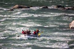 In de stroomversnelling van de Ganges royalty-vrije stock afbeeldingen