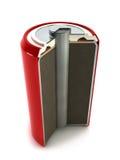De structuur van de batterij Stock Afbeeldingen