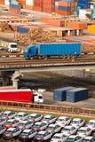 De structuur van de containerhaven Royalty-vrije Stock Afbeelding