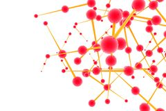 De structuur van de molecule Stock Afbeeldingen