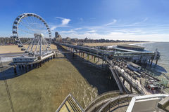 De structuur van DE Pier in Scheveningen Royalty-vrije Stock Foto