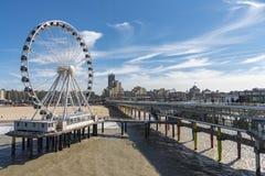 De structuur van DE Pier in Scheveningen Royalty-vrije Stock Foto's