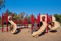 De Structuur van de Speelplaats van kinderen stock foto's