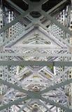 De structuur van de staalbrug Stock Fotografie