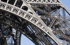 De Structuur van de Toren van Eiffel Stock Afbeeldingen