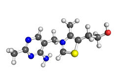 De structuur van de vitamine B1 Stock Foto's