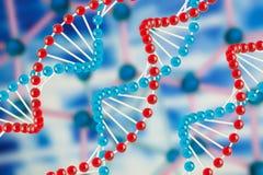 De structuur van DNA stock foto