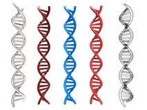 De structuur van DNA Stock Fotografie