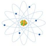 De structuur van het atoom royalty-vrije illustratie